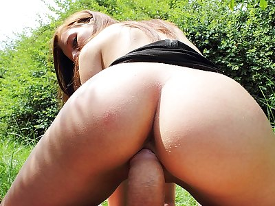 Perfect porn in public video with a delicious girl